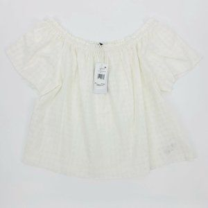NWT Joes White Off The Shoulder Top Size L
